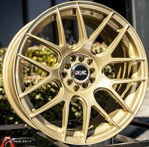Xxr 530 18x7 5 Rims 5x100 114 3 38 Gold Wheels Fits Tiburon Mazda 3 Eclipse Rx8