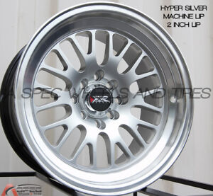 Xxr 531 15x8 Rims 4x100 114 3mm 0 Silver Wheels Fits Civic Ef Ek Eg Miata Mr2