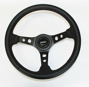 67 68 Pontiac Gto Firebird Steering Wheel Black Carbon Fiber Look 13 3 4