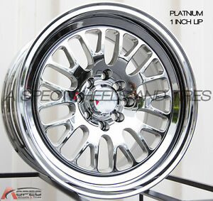 Xxr 531 15x8 4x100 114 3 20 Platinum Wheels Fits 4 Lug Carrado Del So Civic Crx