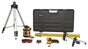 New Johnson Level 40 6517 Rotary Laser Self Leveling Level Kit Sale 4453460