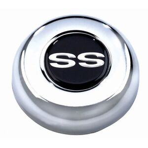 Grant 5629 Gm Licensed Horn Button With Chevrolet Ss Super Sport Emblem Chrome