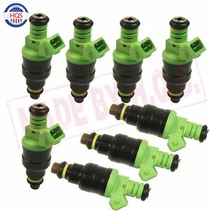Set 8 0280150558 42lbs Green Top Racing Fuel Injector 440cc Ev1 Turbo 42 Lb Hr