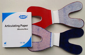 Dental Articulating Paper Horseshoe Thick Blue red 12sheets book 2books box