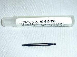 T o Stub Length Coated Double End Mill 2 Flute 3 32 09 510 830 Altin new