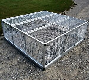 72x72 Rite Farm Products Lifetime Series Freestanding Chicken Run Coop Poultry