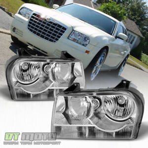 2005 2010 Chrysler 300 Halogen Headlights Headlamps Replacement 05 10 Left Right