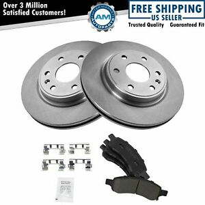 Rotor Premium Posi Ceramic Brake Pad Front Kit For Acadia Traverse