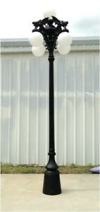 Gargoyle Giant 12' Pole Light with Five Shades Commercial or Home Garden Street $2,084.50