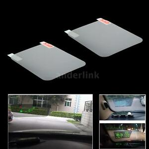 2x Car Windshield Reflective Film For Head Up Display Hud Transparent Us B1x9