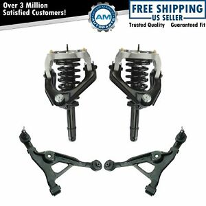 Front Complete Strut Spring Assembly Upper Lower Control Arm Suspension Kit 6pc