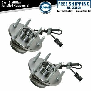 2 Front Wheel Hubs Bearings Pair Set W Abs For Chevy Gmc Truck 4x4 4wd