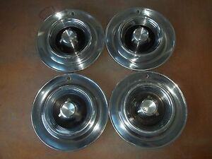 1957 57 Chrysler Imperial Hubcap Rim Wheel Cover Hub Cap 14 Oem Used Set 4