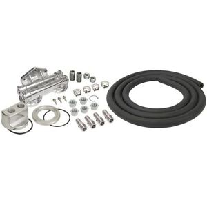 Derale 15749 Oil Filter Relocation Kit Dual Mount 1 2 Npt Ports Universal