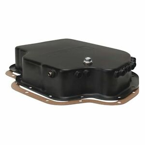 Derale 14201 Gm Th 400 Standard Depth Transmission Cooling Pan Steel Black