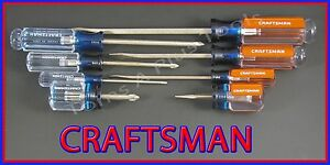 Craftsman Hand Tools 8pc Phillips Slotted Flat Blade Screwdriver Set Usa Made