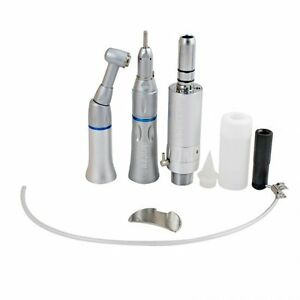 Dental Slow Low Speed Handpiece Push Button 2hole E type Complete Kit Set 2 Hole