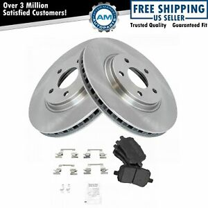 Nakamoto Front Brake Pad Rotor Kit Set Premium Semi Metallic For Chevy Pontiac
