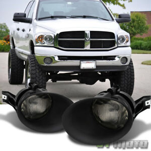 Smoke 2002 2008 Dodge Ram 1500 Bumper Fog Lights Driving Lamps W Bulbs Left Righ