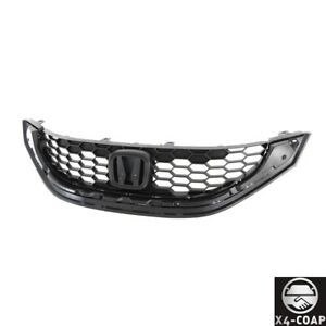 Fit For Honda Civic 13 15 Sedan 4door Front Upper Textured Black Grille Assembly