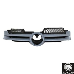 Fit Volkswagen Rabbit 06 09 Front Primed Gray Grille Assembly With Black Insert