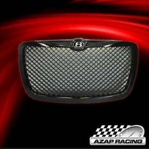 2005 2010 Black Front Hood Grill Grille W B Logo Fits Chrysler 300 Sedan 4door