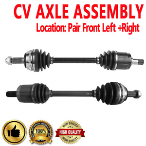 Pair Front Left And Right Cv Drive Axle Shaft Assembly For Acura Cl Honda Accord