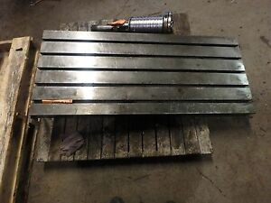 51 X 21 5 8 Steel Welding 5 T slotted Table Cast Iron Layout Plate Jig