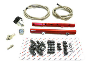 Obx Red Aluminum Fuel Injection Rail W Hoses For 1986 1995 Ford Mustang 5 0l V8