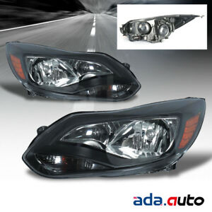 2012 2013 2014 Ford Focus Sedan Hatchback Headlights Replacement Lamps Pair