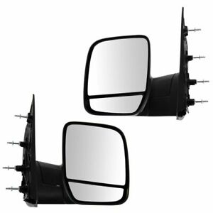 Folding Manual Side View Mirrors Left Right Pair Set For 02 08 Econoline Van