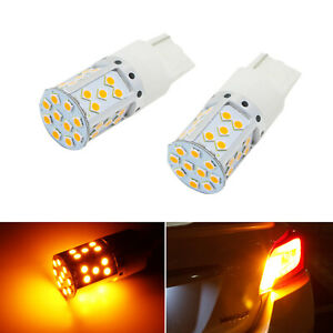 No Resistor Required Amber 21w 7440 Led Bulbs For Front rear Turn Signal Lights