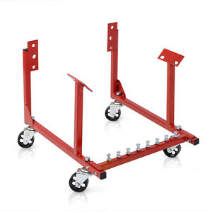 1000lb Auto Engine Cradle Stand Chevrolet Chevy V8 W Dolly Wheels New
