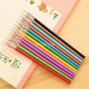 12pc set Novelty Cute Colorful Gel Ink Pen Refills Stationery School Supplies