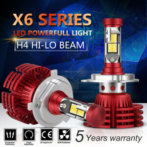 H4 252w 25200lm Philips Led Headlight Kit Hi Low Beam Bulb White 6000k Power