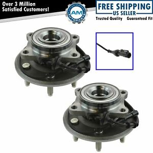 Set Of 2 New Rear Wheel Hubs And Bearings For Ford Expedition Navigator W Abs