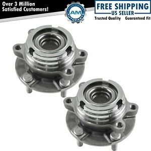Front Wheel Hub Bearing Assembly Pair Set For Nissan Quest Murano Fwd Awd