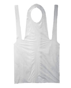 Economy Disposable Poly Apron 2 Mil 28 X 46 White 8 Bags 800 Pieces