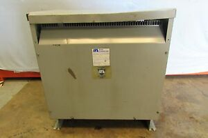 Acme Cat t 2a 53314 3s 75kva 3 Phase Winding Rise Transformer