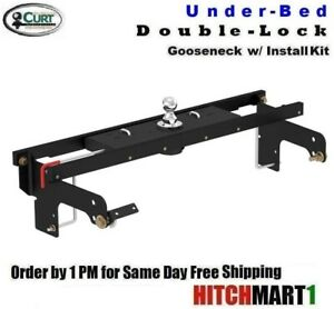 30k Double Lock Gooseneck Hitch For 2001 2010 Chevy Silverado 2500hd 3500 Pickup