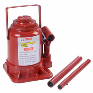 20 Ton Hydraulic Bottle Jack Low Profile Automotive Shop Axle Hoist Lift Jack