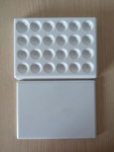 5pcs Dental Lab Porcelain Mixing Watering Plate Wet Tray 24 Pits Plastic Plate