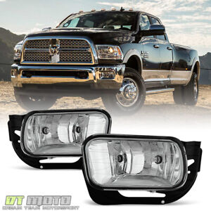 2009 2012 Dodge Ram 1500 10 18 2500 3500 Bumper Fog Lights Driving Lamps W bezel