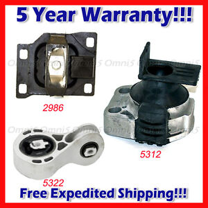 M104 Fits 2008 2011 Ford Focus 2 0l Engine Motor Trans Mount Set 3pcs At Mt