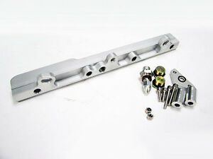 Obx Silver Aluminum Fuel Injection Rail For 1999 2009 Honda S2000 Ap1 Ap2