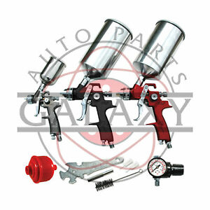 Brand New Atd 9pc Hvlp Spray Gun Set Includes Cleaning Kit And Face Masks