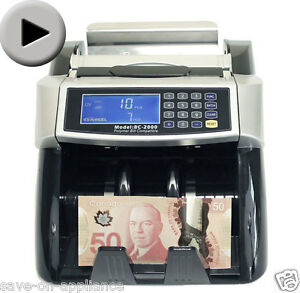 New Polymer paper Canadian Currency Bill Counter Plastic Money Cad Usd Banknote