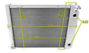 1973 77 Oldsmobile Omega Ls Conv Dual Pass Alliant Radiator W 1 50