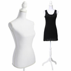 New White Female Mannequin Torso Dress Form Display W Whitetripod Stand