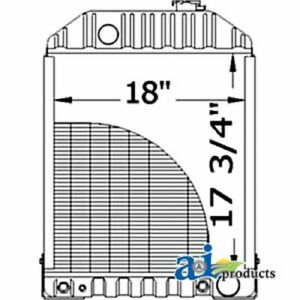 A d8nn8005kb Ford Tractor Radiator W Cooler 5600 6600 7600 7700